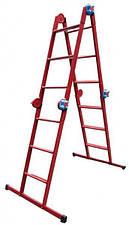 Лестница металлическая трансформер 4ступеньки х 4 секции
