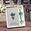 Подарочный набор Блокнот Кактус и ручка Кактус, фото 5