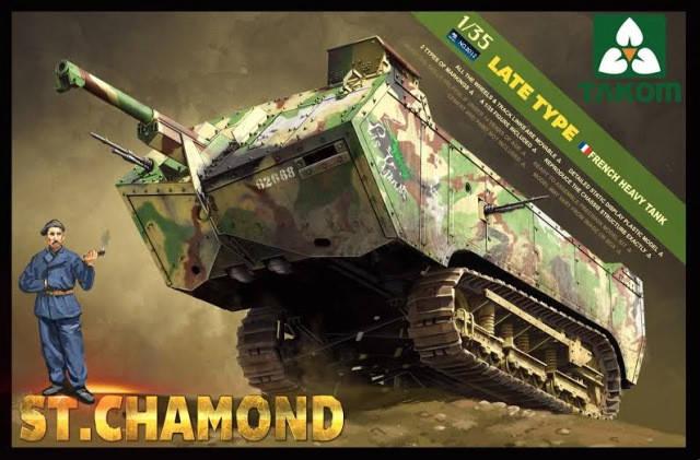 French Heavy Tank St. Chamond. 1/35 TAKOM 2012, фото 2