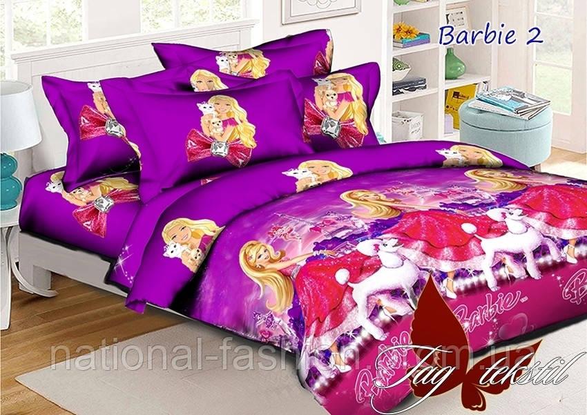 """Детский 1,5-спальный постельный комплект """"Барби"""" 160х220"""