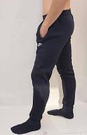 Мужские спортивные штаны утепленные с манжетом, синие. 46-54