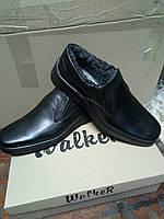 Зимние мужские туфли из натуральной кожи на резинке WAL Z