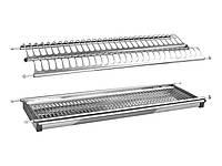 Сушка для посуду Т5 фасад 800 GIFF нержавіюча сталь (2 полиці та 1 піддон)