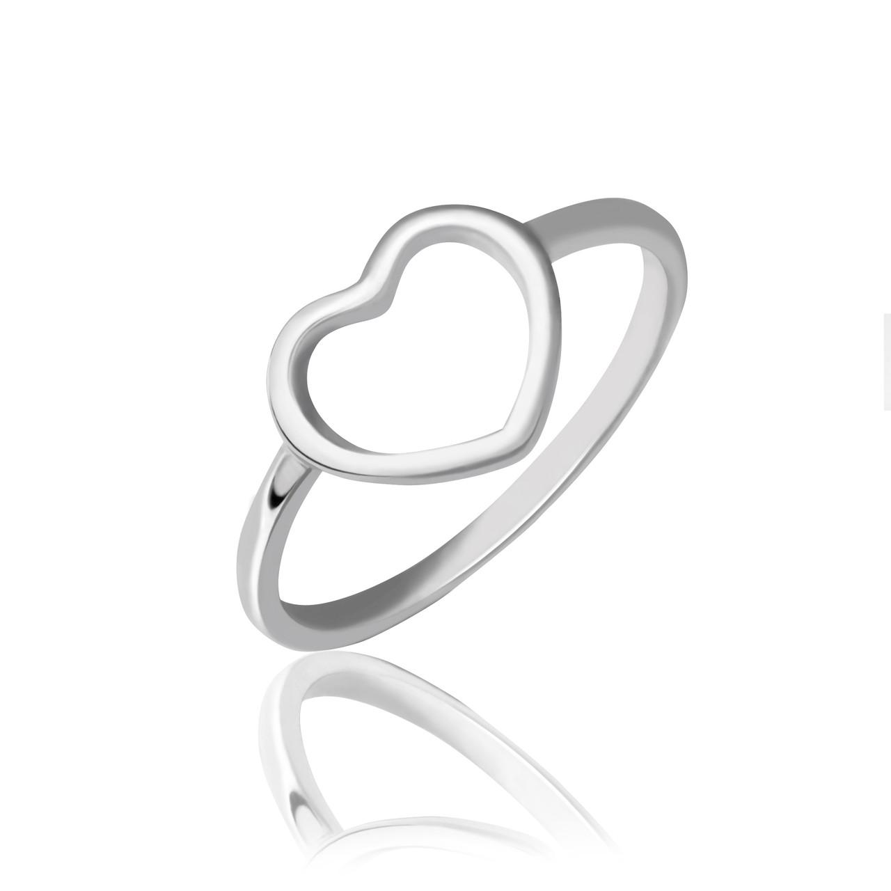 Серебряное кольцо с декоративным сердцем