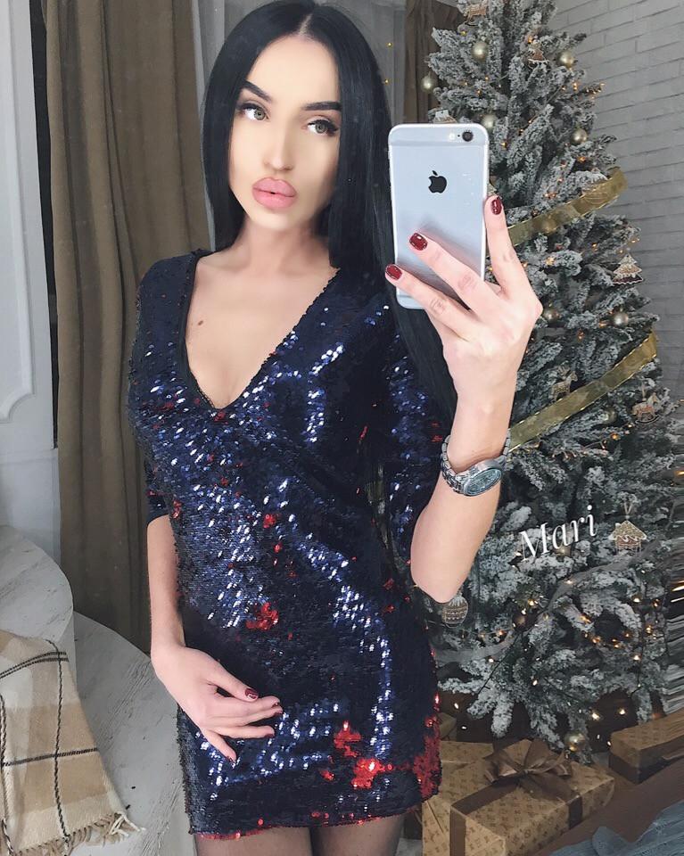 46a8f5d4a0f Красивое мини платье - паетка МС-1811.036  продажа