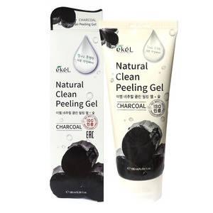 Натуральная пилинг-скатка c углем  Ekel charcoal Natural Clean Peeling Gel, 180 мл