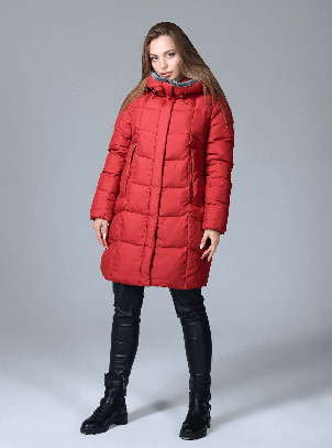 Женская зимняя куртка Сlasna CW17D579CQ красная (#195), фото 2