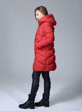 Женская зимняя куртка Сlasna CW17D579CQ красная (#195), фото 3
