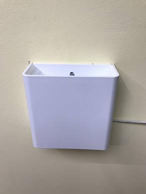 Фасадный светодиодный уличный светильник двухсторонний  DH028 3W белый IP54 Код.59398, фото 2