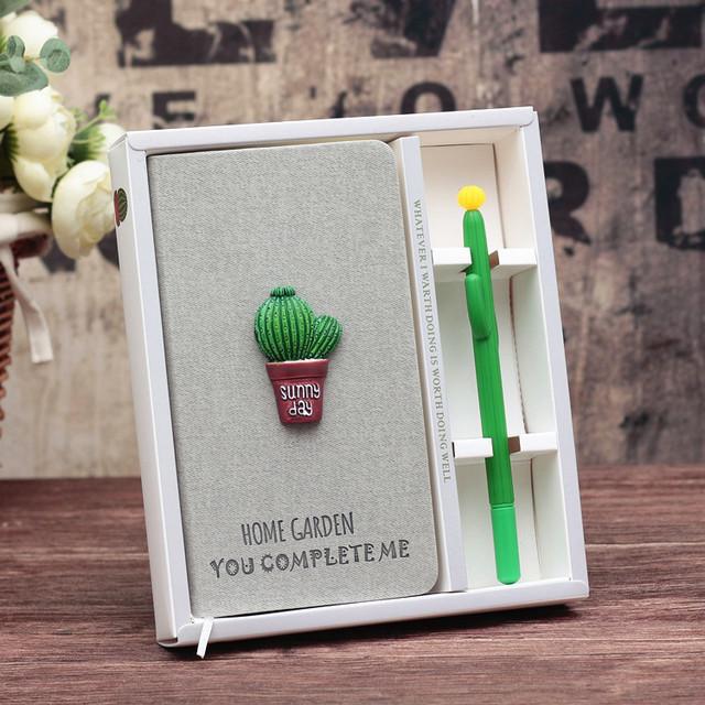 Подарочный набор Блокнот Кактус и ручка Кактус