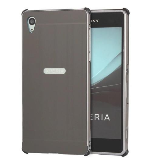 Алюминиевый чехол бампер противоударный для Sony Xperia Z5 (E6633)
