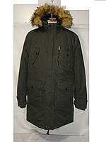 Мужская зимняя котоновая удлиненная куртка Glo Story