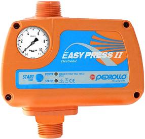 Pedrollo EASY PRESS II электронный регулятор давления (с манометром, старт 2,2 бар)