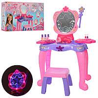 Детское трюмо со стульчиком и аксессуарами, со световыми и звуковыми эффектами, код М-661-124