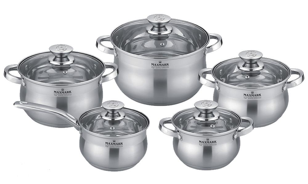 Набор посуды MAXMARK MK-BL2510 (10 пр.)