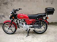 Мотоцикл SP110С-2 Альфа(4т., 110см3, задний багажник, подножка)Красный, фото 1