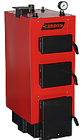 Стальной твердотопливные котел длительного горения Carbon Lux 12 кВт (Карбон люкс)