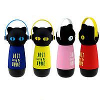 Термос Кот в наушниках, 4 цвета