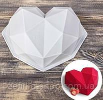 Силиконовая форма для муссовых тортов Сердце Оригами