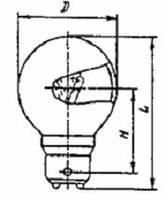 Лампа РН 110-50 B22d