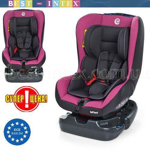 Автокресло ME 1010 INFANT PINK SHADOW Серо-розовое
