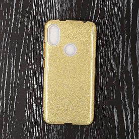 Чехол накладка для Xiaomi Redmi S2 силиконовый, Remax Case GLITTER, золотистый