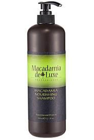 Питательный шампунь с маслом макадамии De Luxe Professional Macadamia Nourishing Shampoo 1000 ml