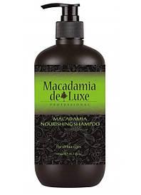 Питательный шампунь с маслом макадамии De Luxe Professional Macadamia Nourishing Shampoo 300 ml