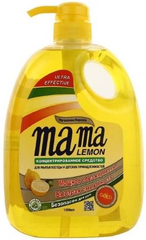 Концентрированный гель для мытья посуды и детских принадлежностей MAMA LEMON Gold 1000 мл (461064), фото 2