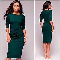 Изумрудное платье-футляр Djessy (Код 407)