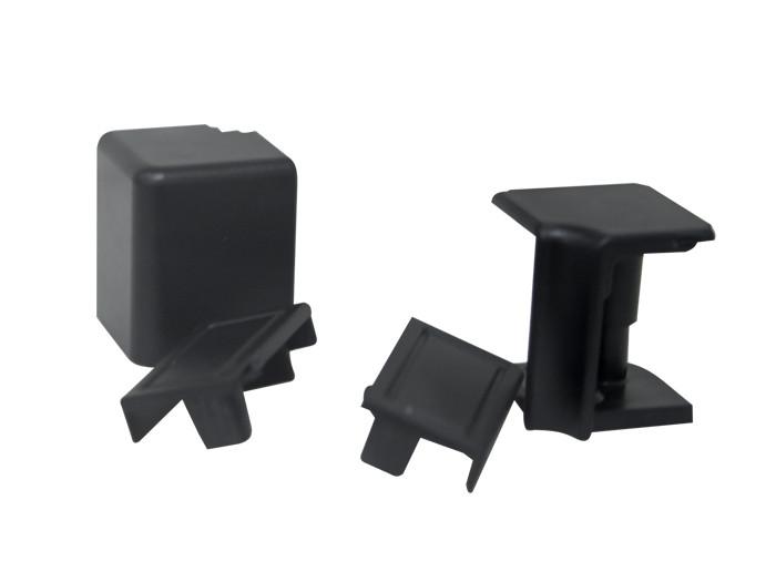 Комплект до плінтуса VOLPATO чорний (2 заглушки, 1зовн.+1внутр. кут) L=4200