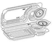 ITEX Коробка пластиковая IT-261.3 (за1шт) 500мл+50+50мл (117-3)