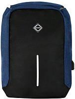 Городской рюкзак антивор Bonro с USB 17 л Синий
