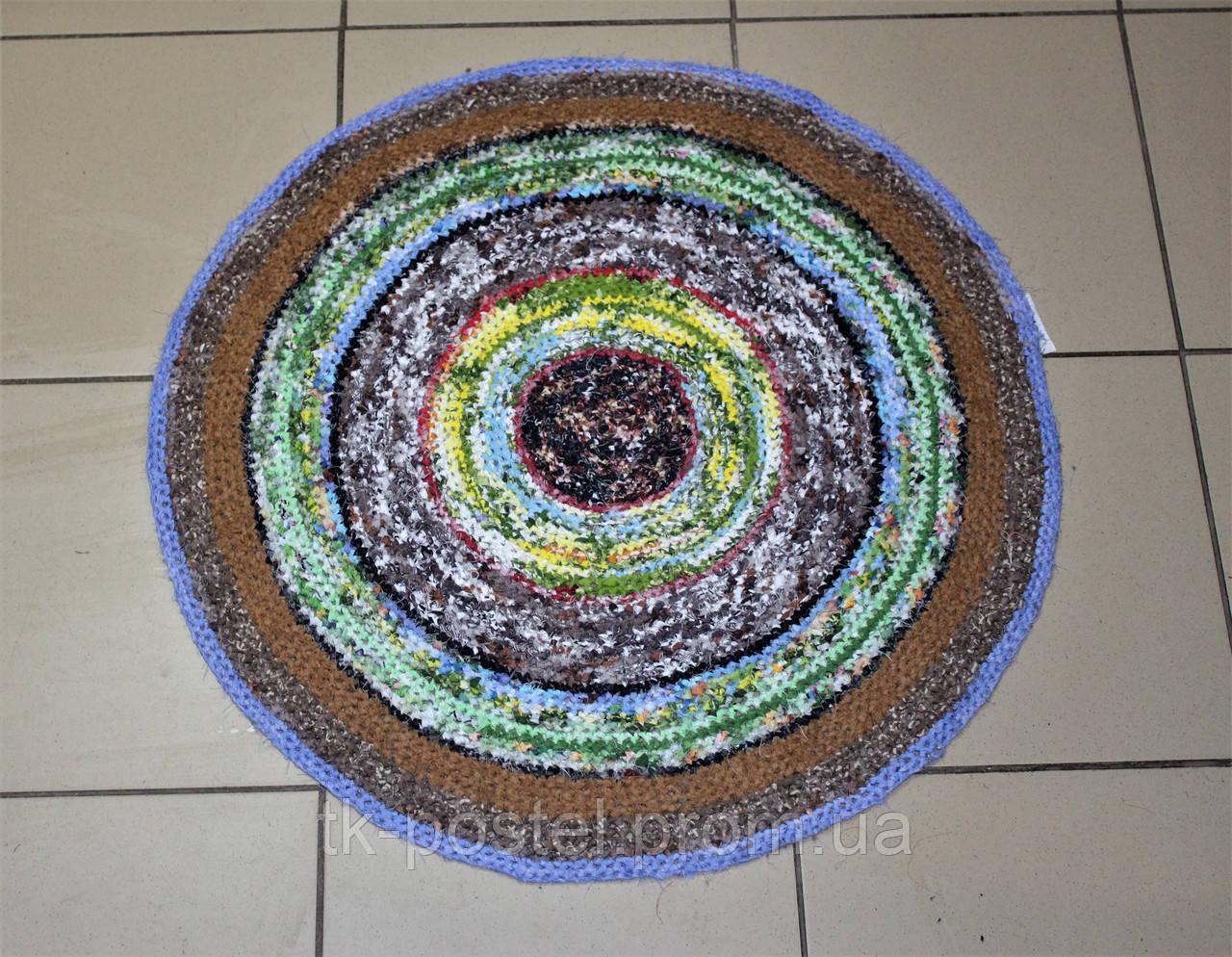 круглый вязаный коврик для ванны и туалета 65 см бязь цена 130 грн