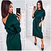 Изумрудное свободное платье Anett (Код 410)