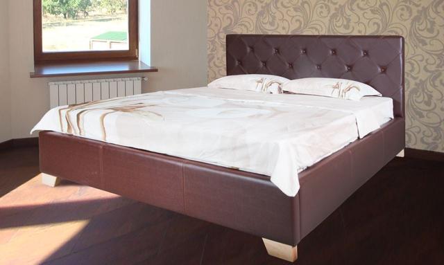 Кровать полуторная София (Ткань, экокожа) фото 2
