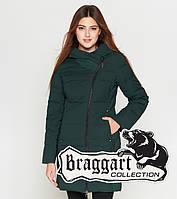 Braggart Youth   Зимняя женская куртка 25395 темно-зеленая