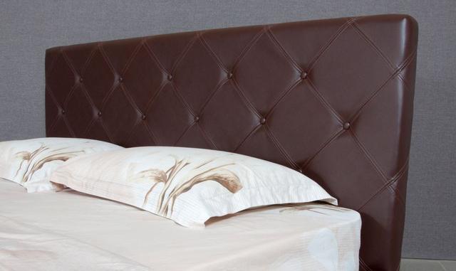 Кровать полуторная София (Ткань, экокожа) фото 4
