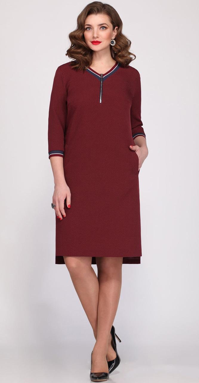 Платье Matini-31151/2 белорусский трикотаж, бордо, 52
