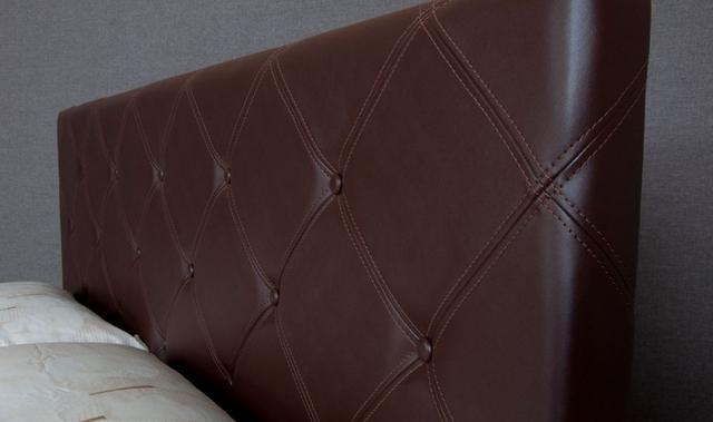 Кровать полуторная София (Ткань, экокожа) фото 5