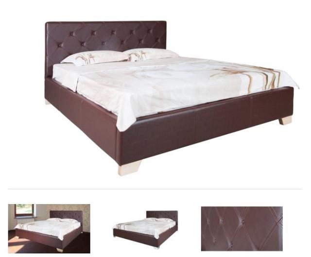 Кровать полуторная София (Ткань, экокожа) фото 6