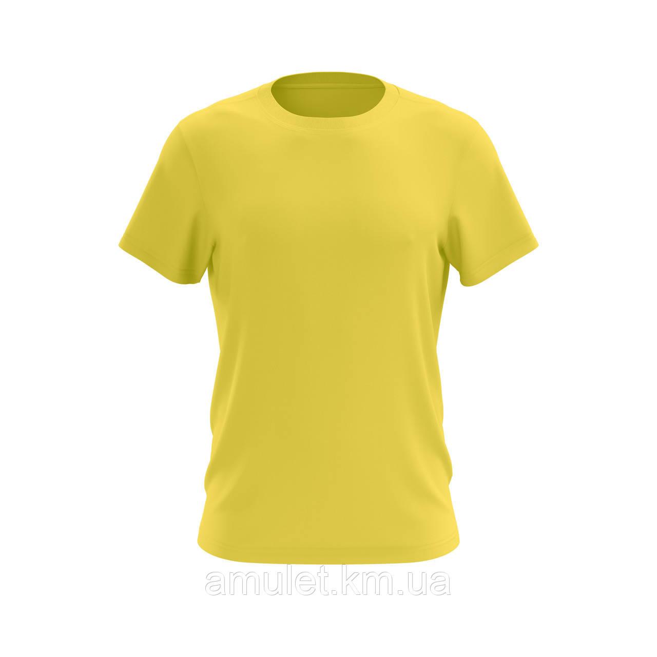 Футболка мужская 100% хлопок желтая