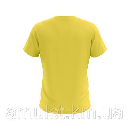 Футболка мужская 100% хлопок желтая, фото 2