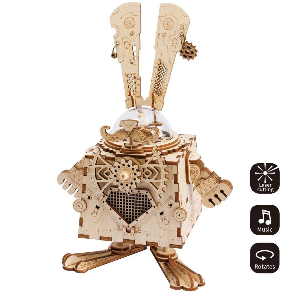 Деревянный конструктор Robotime Кролик 116 деталей