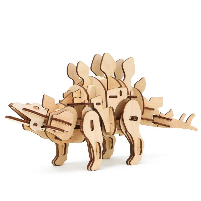 Конструктор из дерева Robotime Динозавр Стегозавр 88 деталей