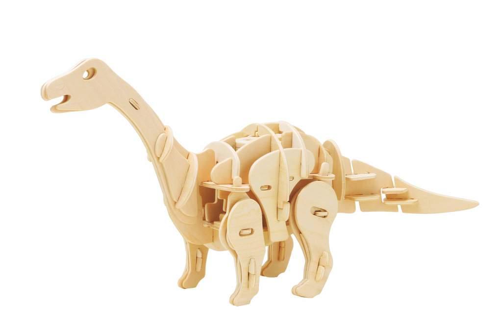 Деревянный конструктор Robotime Динозавр Мини Апатозавр 71 деталь