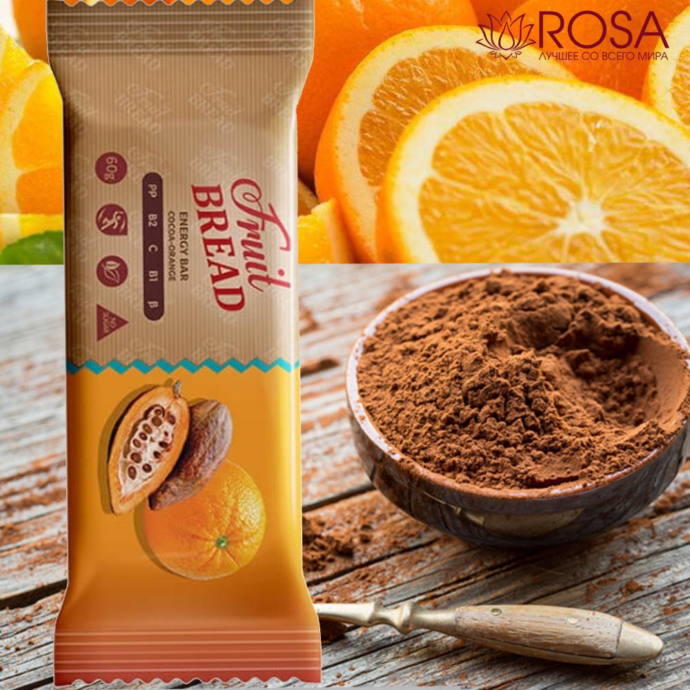 """Батончик """"Фруктовый хлеб со вкусом какао-апельсин"""""""