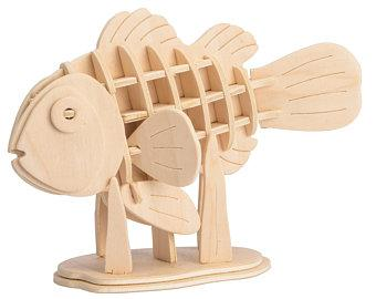 Конструктор деревянный Robotime Рыба клоун 36 деталей