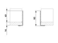 Ограждение сифона для ящика под мойку Volpato для ДСП 16мм серый
