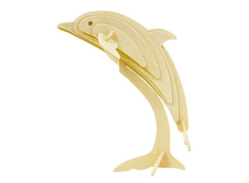 Конструктор деревянный Robotime Дельфин 15 деталей